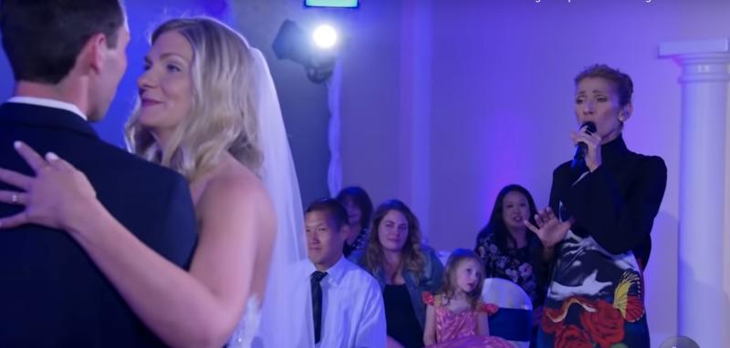Vidéo  Quand Céline Dion s\u0027invite et chante à un mariage à